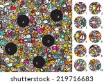 match pieces  visual game.... | Shutterstock .eps vector #219716683