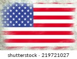 grunge usa flag | Shutterstock . vector #219721027
