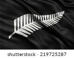 newly proposed silver fern flag ... | Shutterstock . vector #219725287