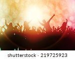 dancing people silhouettes | Shutterstock .eps vector #219725923