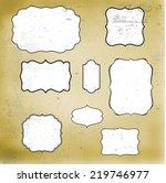 retro grunge vintage frames on... | Shutterstock . vector #219746977