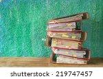 stack of file folders  free...   Shutterstock . vector #219747457