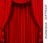 Vector Image Of Red Curtain....