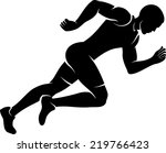 illustration of a male sprinter ... | Shutterstock .eps vector #219766423