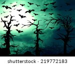 dark green forest and bats... | Shutterstock . vector #219772183