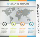 world map vector infographic... | Shutterstock .eps vector #219782203