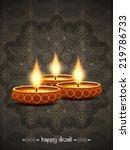 artistic elegant card design... | Shutterstock .eps vector #219786733