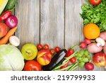 summer frame with fresh organic ... | Shutterstock . vector #219799933