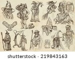 from halloween theme  wizards... | Shutterstock . vector #219843163