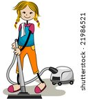vacuuming   vector   Shutterstock .eps vector #21986521