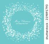 vector glittery lights silver... | Shutterstock .eps vector #219891793