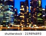 view of city night lights... | Shutterstock . vector #219896893