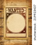 Wanted Poster On A Old Wood...