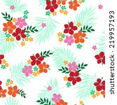 pattern of hibiscus | Shutterstock .eps vector #219957193