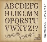 alphabet old stamp style on...   Shutterstock .eps vector #219957517