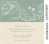 antique baroque wedding ornate... | Shutterstock .eps vector #219957847