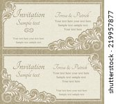 baroque invitation card in old... | Shutterstock .eps vector #219957877
