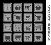 cart icon set | Shutterstock .eps vector #219965197