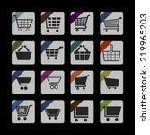 cart icon set | Shutterstock .eps vector #219965203