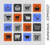 cart icon set | Shutterstock .eps vector #219965227