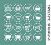 cart icon set | Shutterstock .eps vector #219965263