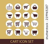 cart icon set | Shutterstock .eps vector #219965287