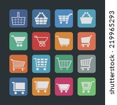 cart icon set | Shutterstock .eps vector #219965293
