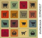 cart icon set | Shutterstock .eps vector #219965317