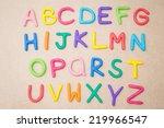 Small photo of Alphabet: colourful plasticine alphabet