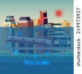 flood city   vector illustration | Shutterstock .eps vector #219973927