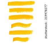 yellow ink vector brush strokes | Shutterstock .eps vector #219978277