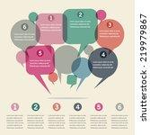 infographics design with speech ... | Shutterstock .eps vector #219979867
