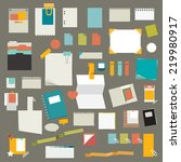 set of stickers  reminders...   Shutterstock .eps vector #219980917