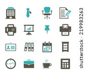office icon | Shutterstock .eps vector #219983263