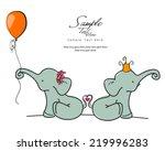 elephants love | Shutterstock .eps vector #219996283