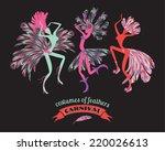 illustration of dancing women...   Shutterstock .eps vector #220026613