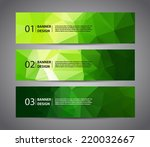 abstract banner with polygon... | Shutterstock .eps vector #220032667