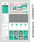 one page website design... | Shutterstock .eps vector #220046977