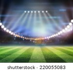 lights at night and stadium | Shutterstock . vector #220055083