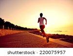 Runner Athlete Running At...