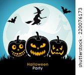 illustration of halloween party ... | Shutterstock .eps vector #220076173