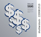 vector illustration. dollars... | Shutterstock .eps vector #220081513