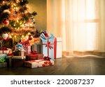 elegant christmas tree with... | Shutterstock . vector #220087237