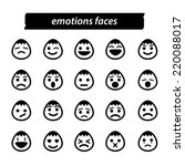 set of icon emotions face ...