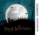 halloween party background. | Shutterstock . vector #220088533