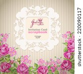 vector invitation card with... | Shutterstock .eps vector #220090117