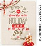 christmas type design  holidays ... | Shutterstock .eps vector #220107223