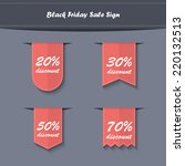 black friday sales vertical... | Shutterstock .eps vector #220132513