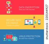 data security encryption... | Shutterstock .eps vector #220144927