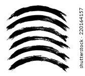 vector set of grunge brush... | Shutterstock .eps vector #220164157